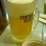 じゅうじゅう - 生ビール(中)一杯目