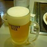 じゅうじゅう - 生ビール(中)二杯目