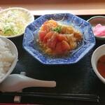 プレステージ - 蕃茄炒蛋定食(Cランチ第2週)。