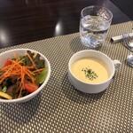 Restaurant MATIERE - 前菜。スープがとても美味な味わいでした。