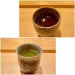 鮨 さかい - 烏龍茶に八女のお茶