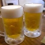 炭火焼鳥 風 - 生ビール(中ジョッキ)