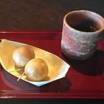 たねや日牟禮の舎 - つぶら餅(160円)