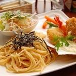 クローバー - 料理写真:明太子パスタ(バター風味)セット