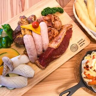 本格グリルで厳選食材のBBQをお楽しみいただけます!