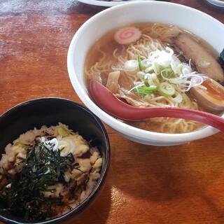 大正麺業 - 料理写真:Aセット(麺大盛り)2020.11.09