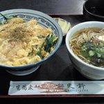 大道 更科 - きつね丼セット(蕎麦)