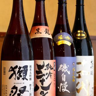 プレミアム焼酎や厳選された日本酒が宴会の盛り上げをサポート