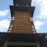 菓匠右門 - 時の鐘を真下から見上げて撮ってみた(*´艸`*) なんだかわからん…