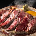 小鍋とかしわ 華まる - 水晶焼き牛ロース