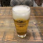 とんかつ とん米 - 仕事の疲れを癒してくれた生ビール('20/11/09)