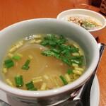 タイの食卓 クルン・サイアム - このスープ個人的にストライク!