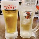 聚楽 - 生ビール(中) 380円 ブラックニッカハイボール 380円
