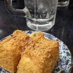 立ち飲み居酒屋 ドラム缶 - 厚揚げ売り切れで上位互換の生揚げ豆腐注文!→