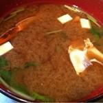 串屋 - 渡り蟹の味噌汁