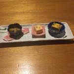 松寿し - 夜のお決まりに付く前菜。