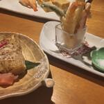 松寿し - 夜のお決まり、天ぷら。食感はサクッと!良い感じです(^^)