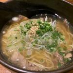 旬の鮮魚と魂の煮込み ぶん福茶がま - 牛スジラーメン