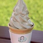 会津のべこの乳 アイス牧場 - チョコではない!お客様のリクエストで商品化したコーヒー特急ソフトクリーム!