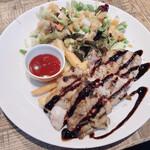 140424848 - 薩摩錦鶏のグリルとチョップドサラダ ハーフ&ハーフプレート