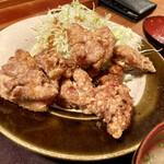 博多もつ鍋 やまや - 唐揚げランチは、これだけでもガッツリ(^ω^)