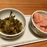 博多もつ鍋 やまや - 食べ放題の辛子明太子と高菜♫