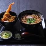 蕎麦 天ぷら 結庵 - 料理写真:【ランチ】ミニ天丼蕎麦セット