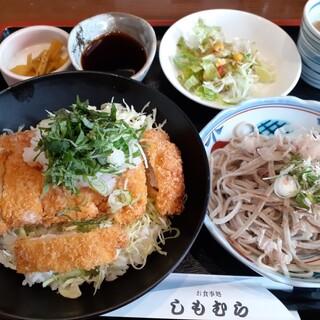 お食事処しもむら - 料理写真:カツ丼(醤油)おろしそばセット ¥1,150