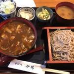 行徳 砂場 - カレー丼セット(1000円)