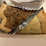 140448770 - 『松之助N.Y東京』さんの アップルパイ!                                              上がサワークリームパイで…下がカスタードパイ                                              どちらも…1個 570円