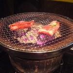 ゆ乃字 - 七輪焼肉。