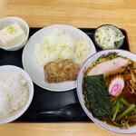 いちむら食堂  - 料理写真:「ラーメン定食」850円税込み素晴らしい‼︎