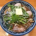 ラーメン ソレナリ - 牡蠣干し塩バターラーメン + 鶏チャーシュー + 味玉 + 味玉 + 味玉