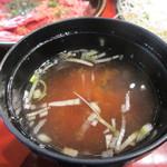 焼肉OGAWA - みそ汁アップ