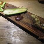 140466630 - 前菜盛り(成平いんげん、翡翠茄子、邑楽牛蒡)