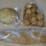 にちにち - 左上:伊予柑チーズクリーム入り 右上:ランドクシャ 下:ソフトフランス