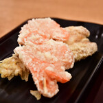 手打うどん いわしや - 天ぷら 紅ショウガ@140円