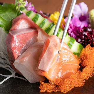 こだわって仕入れた鮮度の良い素材を、お刺身やお寿司でどうぞ!