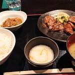 くらのあかり - 熟成牛タンの炭火焼き定食 (1580円)