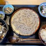 OKOZe - 鴨と山椒ネギの蕎麦定食1000円