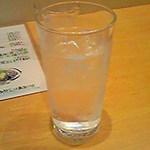 うつ輪 - 芋焼酎 火唐(ぽから)水割り