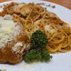 レストラン グリル サクライ - 料理写真:♦︎13時より ナポリタンデラックスチリバーグ 1,200円