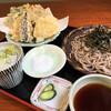 甜蕎屋 源平 - 料理写真:野菜天ぷら粗挽き蕎麦