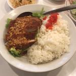 140495916 - ランチの油淋豚カツレツ丼。