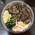 TORERO SHIMOKITAZAWA - ハラミ弁当120g(ナムル、キムチ付き)1480円