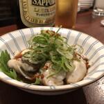 さかなのじんべえ - 生牡蠣ぽん酢