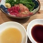 いろり - 淡路産朝引き地鶏造り盛合せ380円