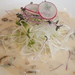 太閤うどん - 倉橋産牡蠣のチャウダーうどん