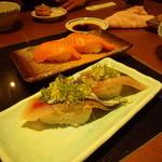 魚河岸料理 うおぎん - いわし&マグロ 157円(二貫)