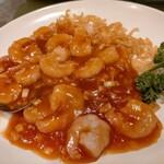 梅蘭 - 海老のチリソース炒め